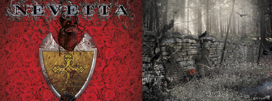 Nevetta Album Cover Front + Inside // Surrealism