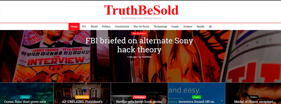 TruthBeSold Responsive News Design // XHTML // CSS // Content Management  // Responsive