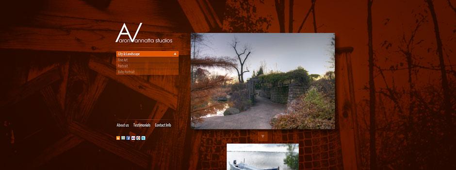Aaron Vannatta Studios // Adobe Flash Web Design