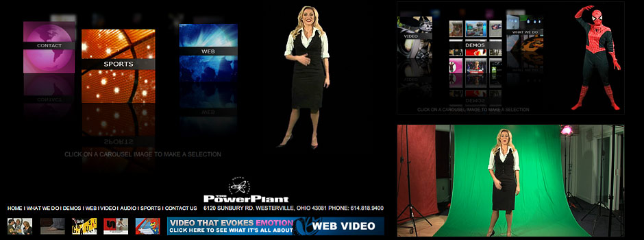 The PowerPlant MultiMedia Studios // Adobe Flash Design
