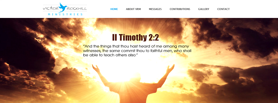 Victor Rockhill Ministries // XHTML // CSS // Content Management // Responsive